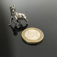 Petit Élément Décoratif En Argent Massif Chien ART DECO 1920 Vintage Silver Dog