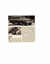 1966 KAISER JEEP WAGONEER ~ ORIGINAL SMALLER NEW CAR PREVIEW / AD