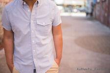 Abercrombie & Fitch Mens Short Sleeve Oxford Button Down Shirt XS S M L XL XXL
