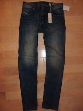 Diesel Jeans Men's BRAVEFORT 0811L Comfort Carrot Distressed Wash Size 28 X 32