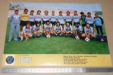 CLIPPING POSTER FOOTBALL 1980-1981 FC TOURS STADE-DE-LA-VALLEE-DU-CHER