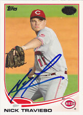 NICK TRAVIESO AZL CINCINNATI REDS SIGNED 2013 TOPPS PRO DEBUT BASEBALL CARD