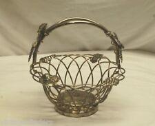 Vintage Godinger Silver Art Co. GSA Silver-Plate Grape Leaf Design Fruit Basket