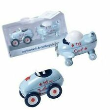 First Tooth and Curl Keepsake Set-2¼ x 3 Inch - Boy/Race Car/Airplane/Baby Sh.