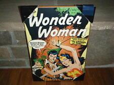 "VINTAGE 1957 VOL. 1 #94 WONDER WOMAN WOOD WALL PLAQUE  13"" X 19"" ROBIN HOOD RARE"