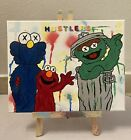 14x11 Black Light Oscar The Grouch Elmo Sesame Street Kaws  Drip Graffiti Art