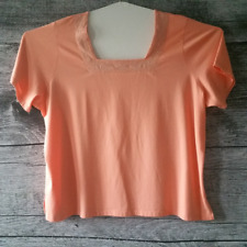 Women's Blouse Tops Plus Size Salmon Embroidered Embellished 56'' Waistline