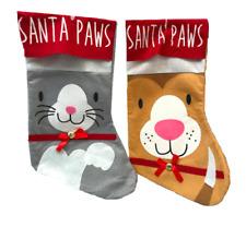 CHRISTMAS XMAS STOCKING SANTA SACK SACKS for Dog & Cat lovers