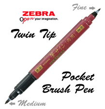 Zebra Zensations Brush pen - Twin tip (Fude Sign) Pigment ink