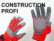 Meister Arbeitshandschuhe Construction PROFI Größe Gr. 8 M Schutzhandschuhe Rot
