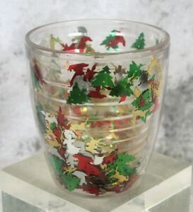 Tervis Tumbler Christmas Confetti Glitter 12oz Insulated Cup Reindeer Angel Tree