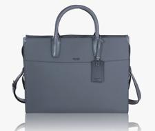 Tumi LOWELL BRIEF Premium Landon Pebbled Leather Gray 93804GRY $1800