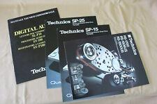 Technics SP 10, SP 15 e altri depliants illustrativi come nuovi