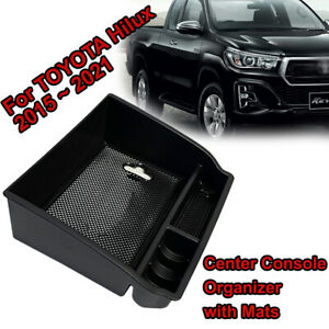 For Toyota Hilux 2015-2021 N80 Center Console Armrest Storage Box Organizer Tray