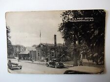 U S Post Office Merchantville New Jersey USA Shows Vintage Cars Old Postcard