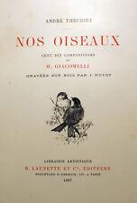 OISEAUX/NOS../A.THEURIET/H.GIACOMELLI/110 ILLUSTRATIONS/ED LAUNETTE ET CIE/1887