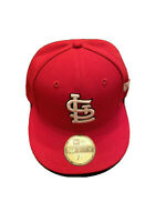 New Era 59fifty Mens 7 1/4 Red St. Louis Cardinals Authentic Collection MLB Hat