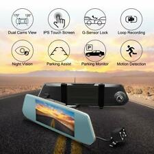 7 inch Dash Cam Dual Lens HD Touch Screen 1080P Vehicle Car Parking Camera