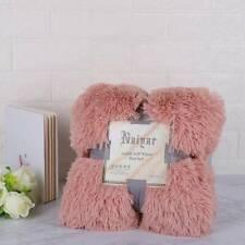 Thick Double Throw Sofa Bed Lamb Fleece Blanket Soft Plush Plaid Blanket LP