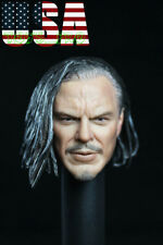 1/6 Iron Man Whiplash Mickey Rourke Head Sculpt For Hot Toys PHICEN Figure ❶USA❶