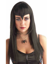 Black Widow Womens Adult Black Vampire Witch Costume Wig