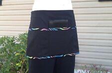 Black Trim Waitress waist apron 3 pocket restaurant Classyaprons Cafe