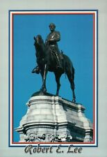 Confederate Statue of Robert E. Lee Monument Avenue Richmond Virginia - Postcard