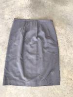 Vintage Burberry's Burberry Grey Virgin Wool Straight Pencil Skirt Size 12