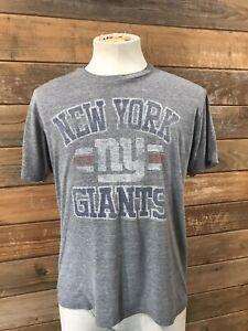 New York Giants Grey T-shirt Men's S NFL official Junk Food retro soft Large