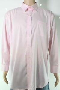 Lauren by Ralph Lauren Mens Dress Shirt Pink Size 15 1/2 No-Iron Stretch $79 192