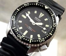 Seiko Classic Black Ceramic 'Submariner' Scuba Diver's Automatic Date Watch 7002