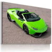 LAMBORGHINI HURACAN GREEN Sports Cars Wall Art Canvas Picture AU90 MATAGA
