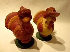 Avon Salt And Pepper Shakers Holiday Turkey Twosome Fall Thanksgiving