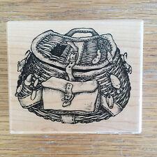Fishing Creel Rubber Stamp  G-1654 Santa Rosa CA PXX  1999  New Unused