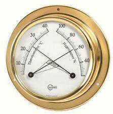 Kabinenaustattung Thermometer/Hygrometer BARIGO Tempo Brass