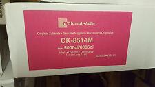 ORIGINALE Triumph-Adler UTAX TONER ck-8514m MAGENTA 1t02ndbta0 6006ci a-Ware
