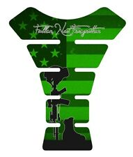 Fallen Soldier Green Military Motorcycle Gas tank pad tankpad protector Deca