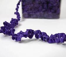 """2 Yds Purple Double Ruffle Krinkle Crinkle Grosgrain Ribbon 3/8""""W"""