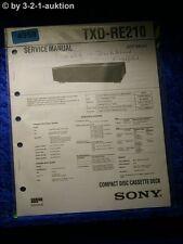 Sony Service Manual TXD RE210 CD Cassette Deck (#4959)