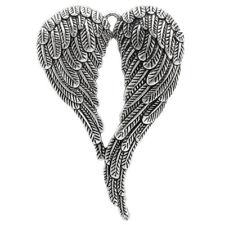 5Pcs Angel Wing Pendants Necklace Antique Style Tone Charm New 6.9x4.7cm�ˆA H0E5