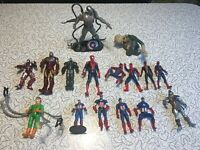 Marvel Spider-Man Lot of 16 Action Figures Loose - Captain America Ironman