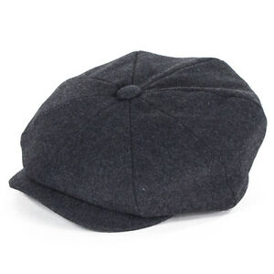 Failsworth Hats Alfie Melton Wool Bakerboy Cap - Grey