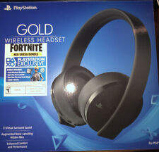 Sony Gold Wireless Stereo Headset, black for PlayStation 4, Comes with all