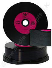 Vinyl CD-R Carbon, 25 Stück, 700 MB zum archivieren in Cakebox, Labelfarbe: Lila