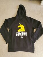 Adidas Boston Marathon Qualifier BQ Running Hoodie Black Mens Size Large FQ3805