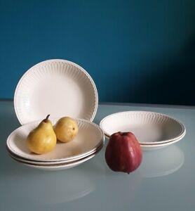 """LAVENO Diamondstone"", 6 piatti fondi, Porcellana, bianco antico, diametro 23 cm"