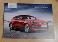 Hyundai Veloster & Veloster Sport Brochure 2012