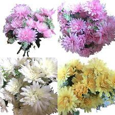5x 9Heads Chrysanthemum Bunch Artificial Flowers Mum Bouquet Home Floral Decor