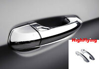 Chrome Door Handle Frame Cover Trim 4pcs with keyhole For Ford Mustang 2015-2019