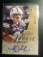 2009 SPx #/299 Rookie Signatures Austin Collie #147 Colts Auto Autograph RC MINT